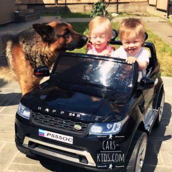 Электромобиль Range Rover XMX601 4WD 2-х местный, красный (лекгосъемный усиленный АКБ, колеса резина, сиденье кожа, пульт, музыка)