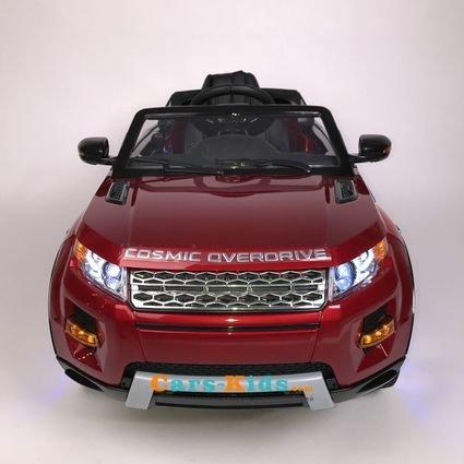 Электромобиль Range Rover Luxury SX118-S красный (колеса резина, сиденье кожа, пульт, музыка)