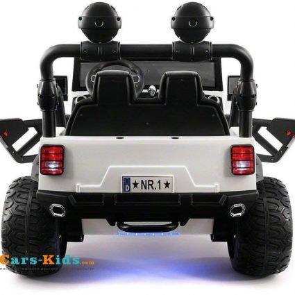 Электромобиль Jeep Wrangler White 4WD - SX1718-A белый (кресло кожа, колеса резина, пульт, музыка)