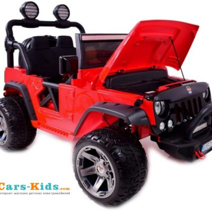 Электромобиль Jeep Wrangler Red 2WD - SX1718-S красный (кресло кожа , колеса резина, пульт, музыка)
