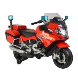 Электромотоцикл BMW R1200RT Police 12V - 212 красный (колеса резина, кресло кожа, музыка)